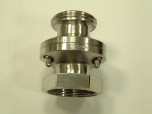 breakaway coupling for hygienic and pharmaceutical