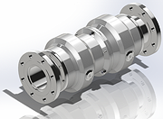 Full bore breakaway coupling flanged